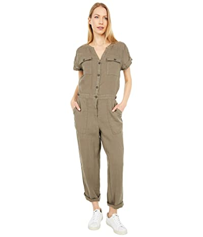 Michael Stars Melody Splay Neck Jumpsuit in Linen (Camo) Women