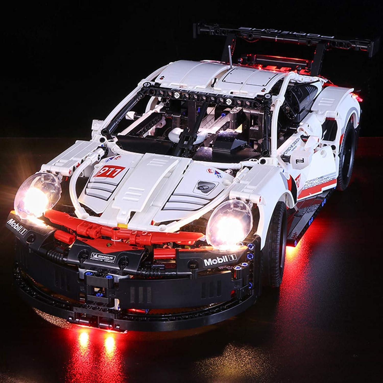 POXL LED Light Set for (Technic Porsche 911 RSR) Building Kit Models  LED Light Kit LED Set Compatible with Lego 42096 (Lego Set not included)