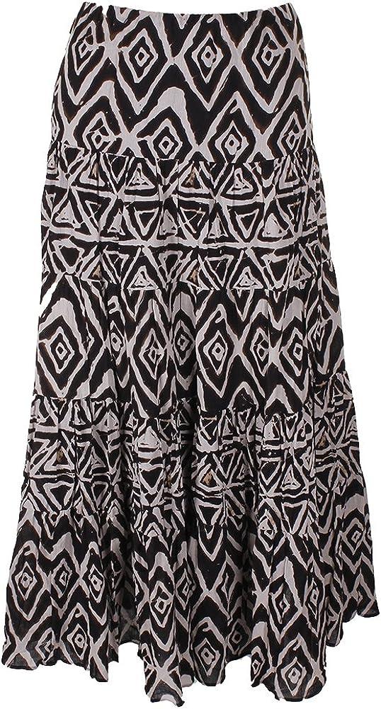 Lauren by Ralph Lauren Womens Large Tribal Maxi Skirt Beige L