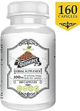 Quinine Capsules 500mg (160 Pills), Organic (Cinchona bark officinalis), Herbal Supplement, Leg Cramp Support Supplement