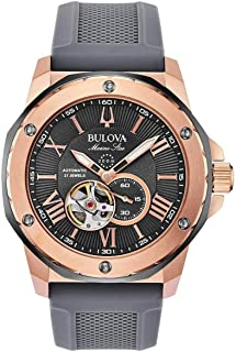 Men's Bulova Marine Star Automatic Grey Dial Watch 98A228