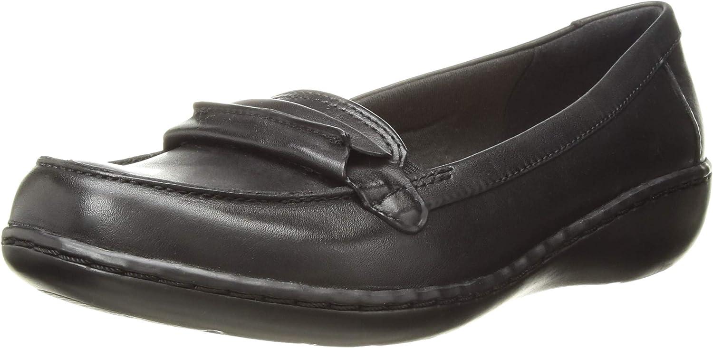 Clarks Woherren Ashland Lily Loafer, schwarz Leather, 120 W US