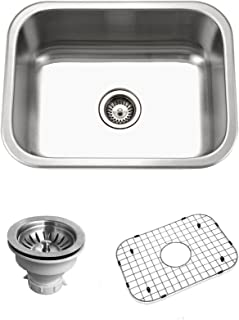 Houzer BSS-2309 Belleo Series Topmount Single Bowl Kitchen Sink Stainless Steel