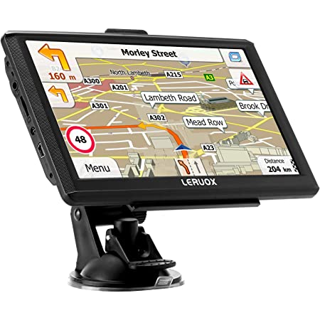 256MB-8GB Real Voice Broadcast LONGRUF Car GPS Navigation Install The Latest Map of The United States 7-inch HD Display Free Update Lifetime Map