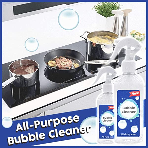 CapsA Kitchen Cleaner Spray Grease Cleaner Multi Purpose Foam Cleaner All Purpose Bubble Cleaner Removes The Toughest Dirt For Kitchen Bath Laundry Cooktops
