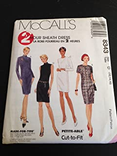 McCall's 8343 Sewing Pattern, Misses' Dress in Two Lengths, Size D (12,14,16)