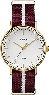 ساعة Timex النسائية التناظرية كوارتز بحزام نسيجي TW2P98100