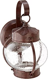 Nuvo Lighting 60/631 One Light Fixture Outdoor Wall Mount, Small Onion Lantern, Old Bronze