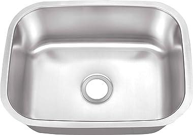 "MSLX908, 23-1/4"" x 17-3/4"" Stainless Steel 16 Gauge Single Bowl Bar Sink"