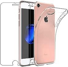 """Cover iPhone 6 / iPhone 6s Custodia + Pellicola Protettiva in Vetro Temperato , Leathlux Morbido Trasparente Silicone Custodie Protettivo TPU Gel Sottile Cover per Apple iPhone 6S / 6 4.7"""""""