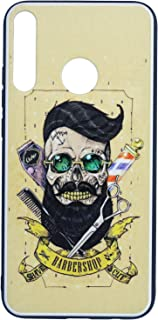 Boter Barber Shop Printed Slim 3D Back Cover for Huawei Y7P 2020 - Multi Color