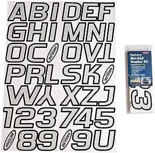 Hardline Products SIBLK700 Silver/Black Factory Matched Registration Number Kit