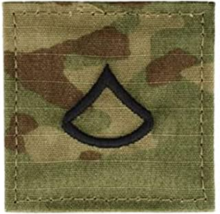 Ira Green Army Rank PFC Private First Class OCP Patch - Pair