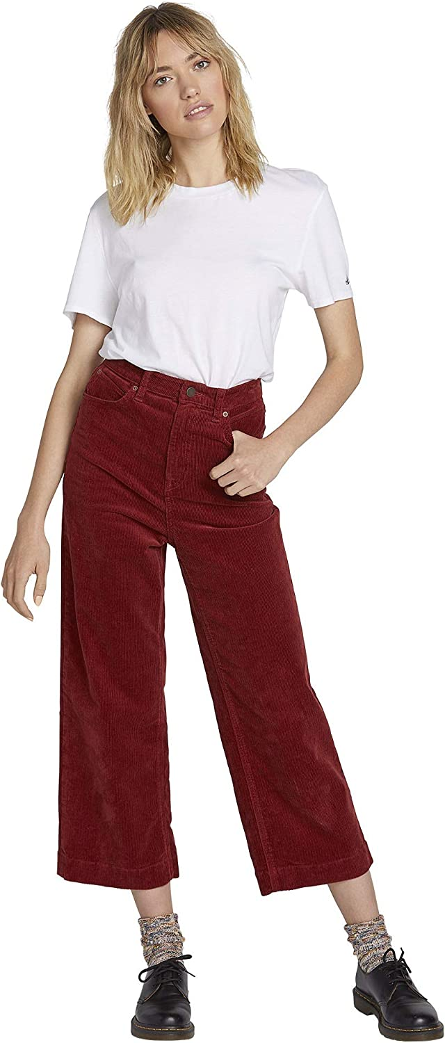 Volcom Women's Oh My Cord Wide Leg Cropped Pant