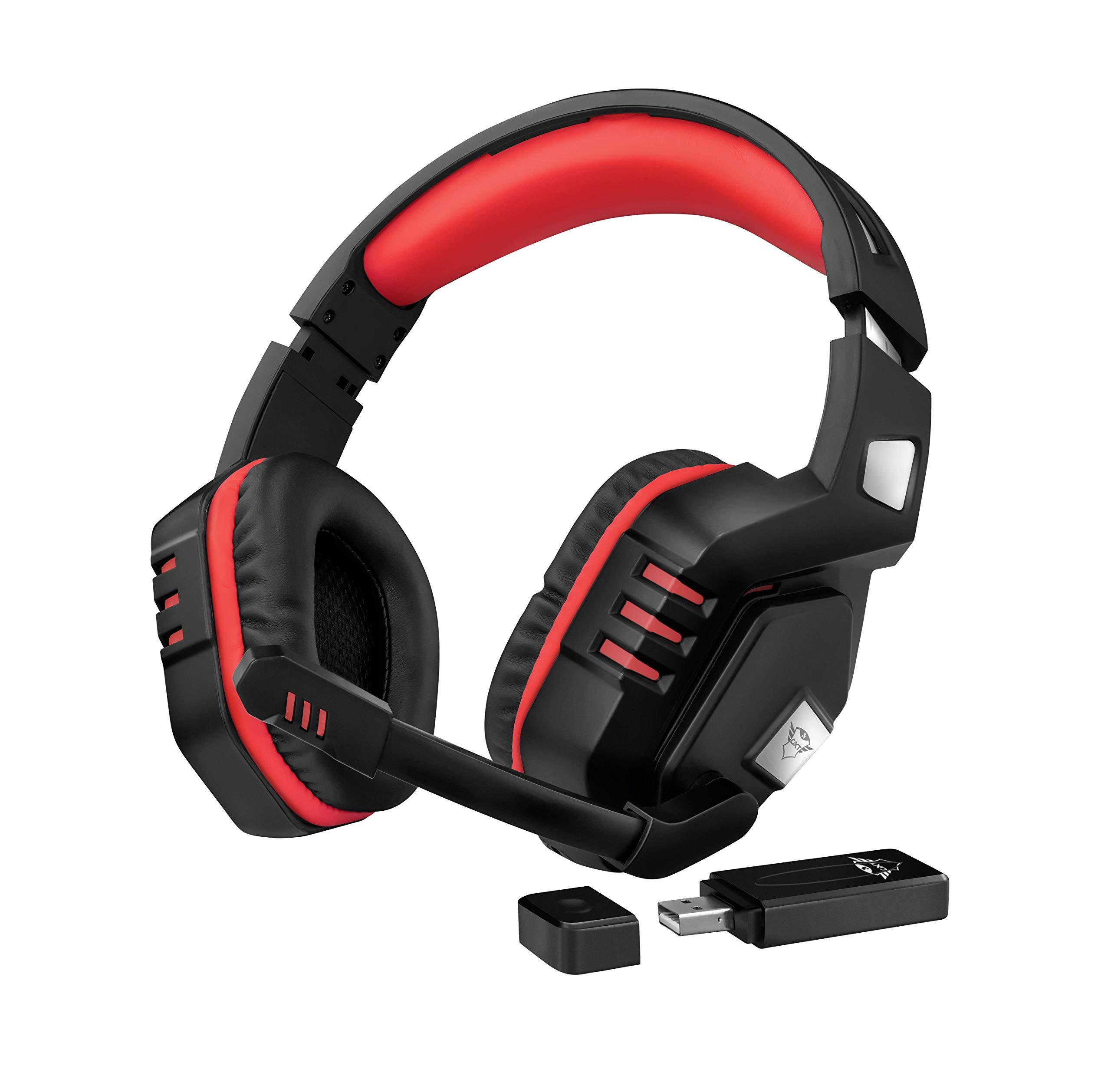 Trust GXT 390 Juga Auriculares inalámbricos para Gaming para PC y PS4, Color Negro: Amazon.es: Informática