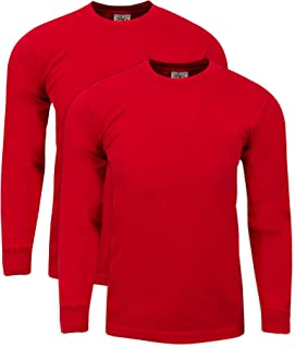 Shaka Wear 2Pack Men's Max Heavy Weight 7 oz Cotton Long Sleeve T-Shirt