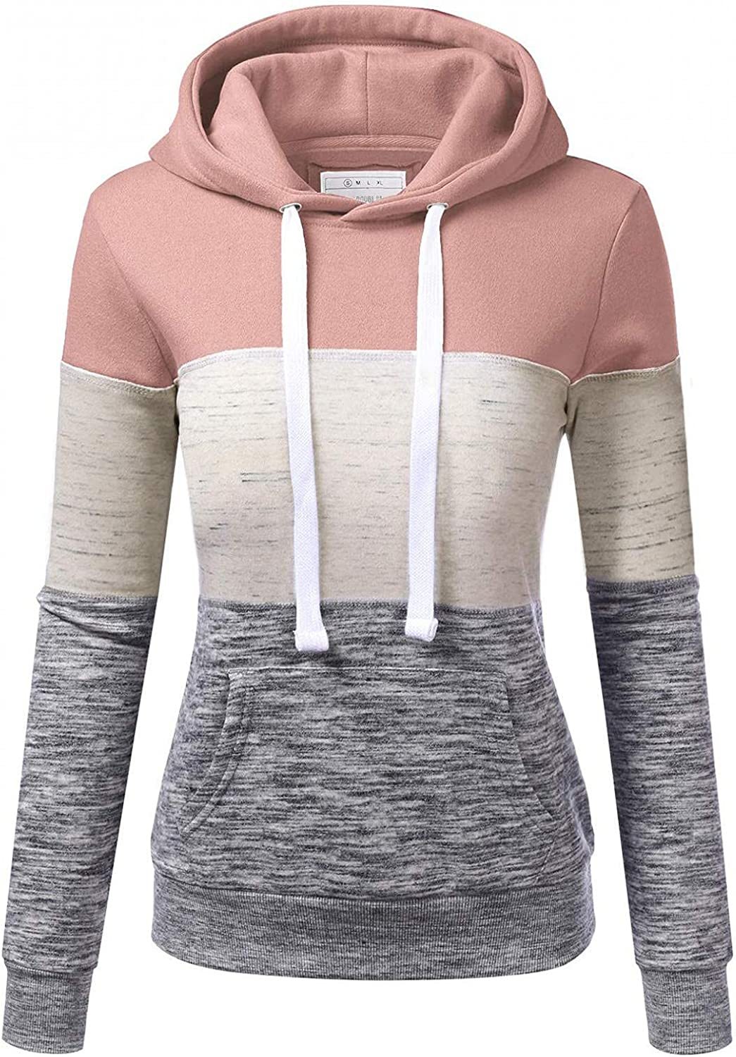 ORT Hoodies for Women, Graphic Womens Hoodies Pullover Cowl Neck Long Sleeve Hooded Sweatshirts Casual Striped Sweaters Tops