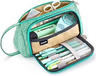 EASTHILL Medium Capacity Pencil Pen Case Bag Pouch Holder Multi-Slot School Supplies for..
