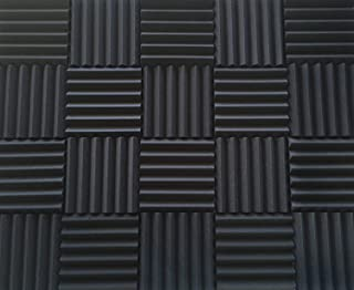 Soundproofing Acoustic Studio Foam - Wedge Style Panels 12x12x2 Tiles - 4 Pack - DIY