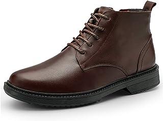 DADIJIER Oxford Boots para Hombre Redondo Tope Medio Top Corte Arriba Tap Tap Bloque BLOQUILLO Plante Plante Plante STITIZ...