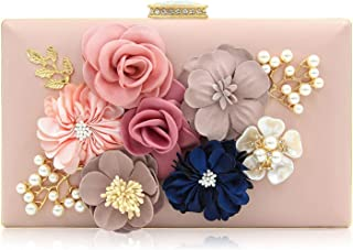 INOVERA (LABEL) Ladies Floral Evening Clutch Women Party Wedding Purse Bag