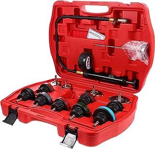 VICASKY Kit Verificador de Pressão Do Radiador de Arrefecimento de Automóveis De Teste De Vazamento E Pneumático Purga Pre...