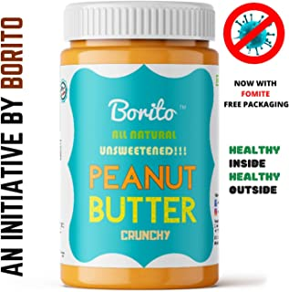 Borito All Natural Unsweetened Crunchy Peanut Butter 850g (Crunchy)