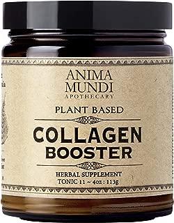 Anima Mundi Plant Based Collagen Booster Powder - Organic Adaptogenic Beauty Supplement for Skin, Hair + Nails, Vegan + Gluten-Free Collagen Boosting Formula (4oz / 113g)