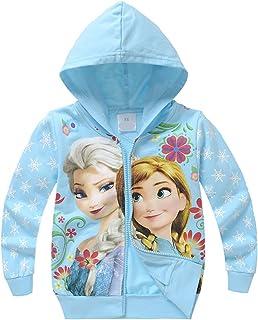 PCLOUD Frozen Girls Zippered Hoodie Blue