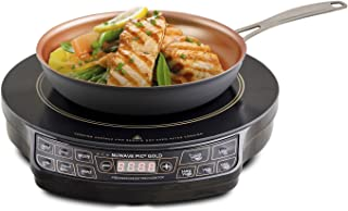 NUWAVE 30242 Lightweight Induction Cooktop With 9 in Fry Pan, 10.8 A, 1300 W Black