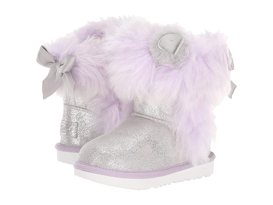 UGG Kids Maizey Classic II (Toddler/Little Kid) (Silver/Lavender) Girls Shoes