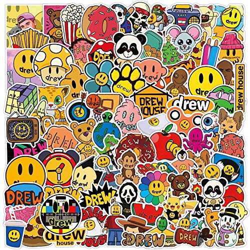 WYDML Singer Justin Bieber Drew - Bolsa de pegatinas para la casa, maleta, portátil, teléfono, motocicleta, diseño de dibujos animados para niños, 100 unidades