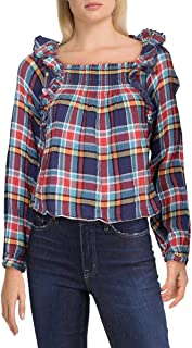 Free People Women's Siena Plaid Pullover Blouse