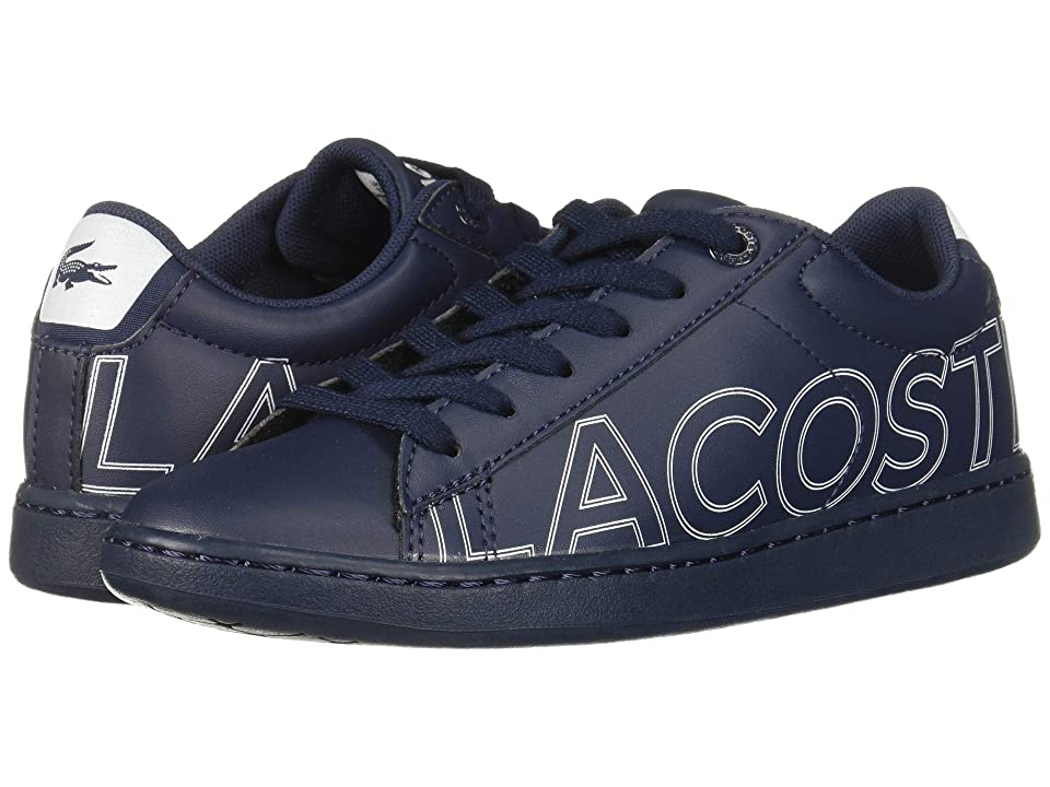 Lacoste Kids Carnaby Evo 219 1 SUC (Little Kid) (Navy/White) Kid