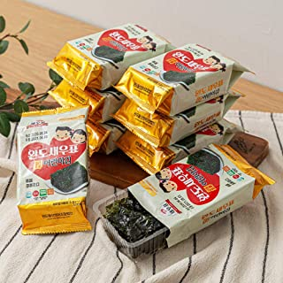 韓国エビ印評判の莞島低塩海苔 味付けのり4g×9袋 お弁当用 おつまみ 韓国海苔 焼き海苔