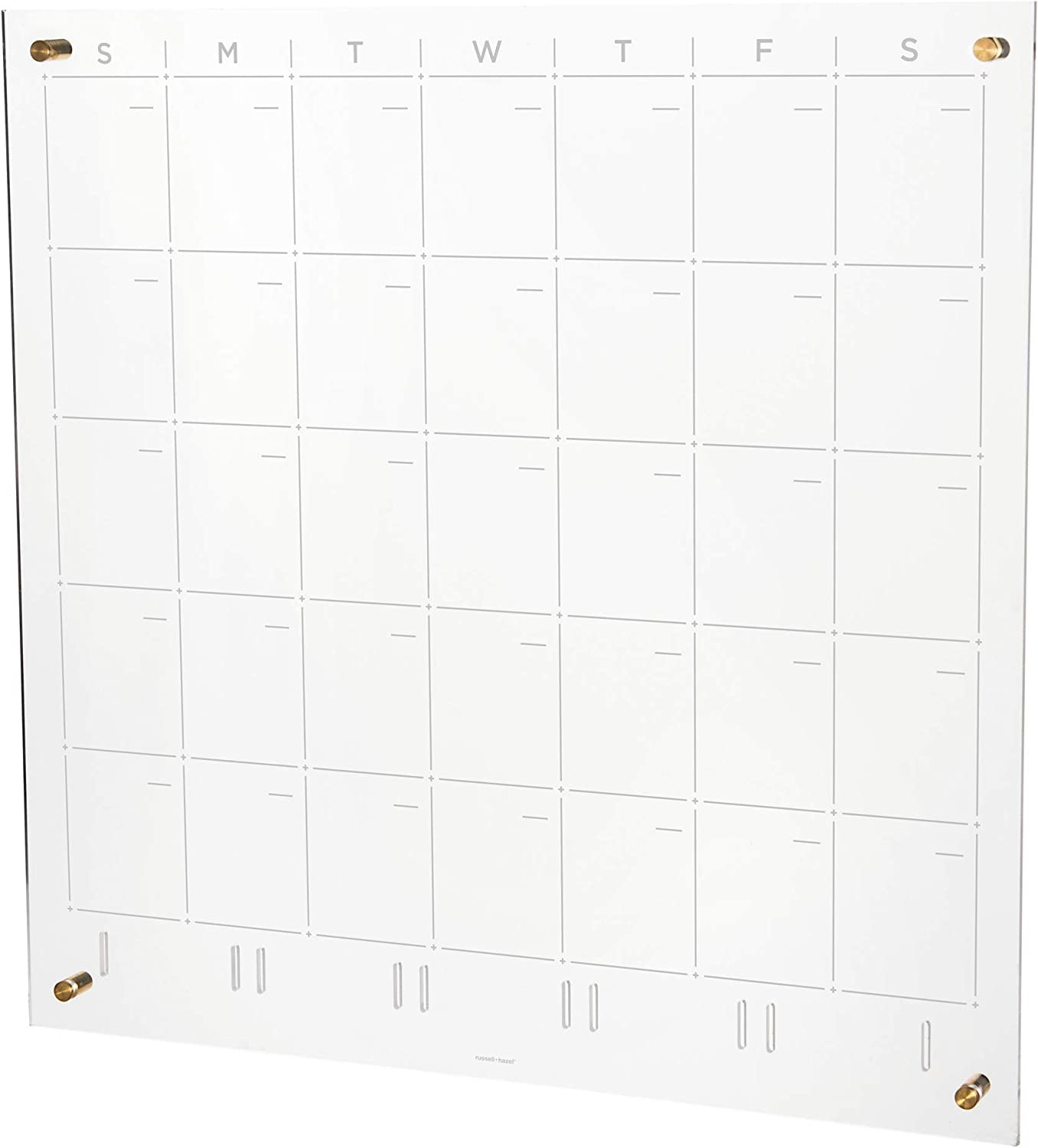 russell+hazel Acrylic Monthly Wall Clear Calendar Gold-Tone Don't miss the campaign In a popularity and