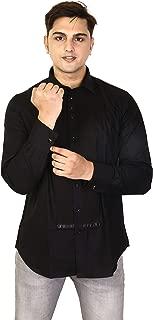 Valeta JF-05 Black Tuxedo Shirt with Classic Collar