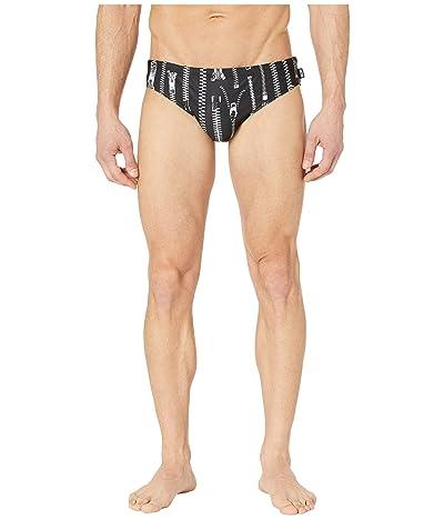 Moschino Zip Swim Briefs (Black) Men