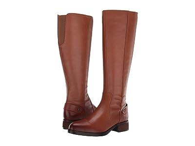 Steve Madden Jax Riding Boot (Cognac Leather) Women