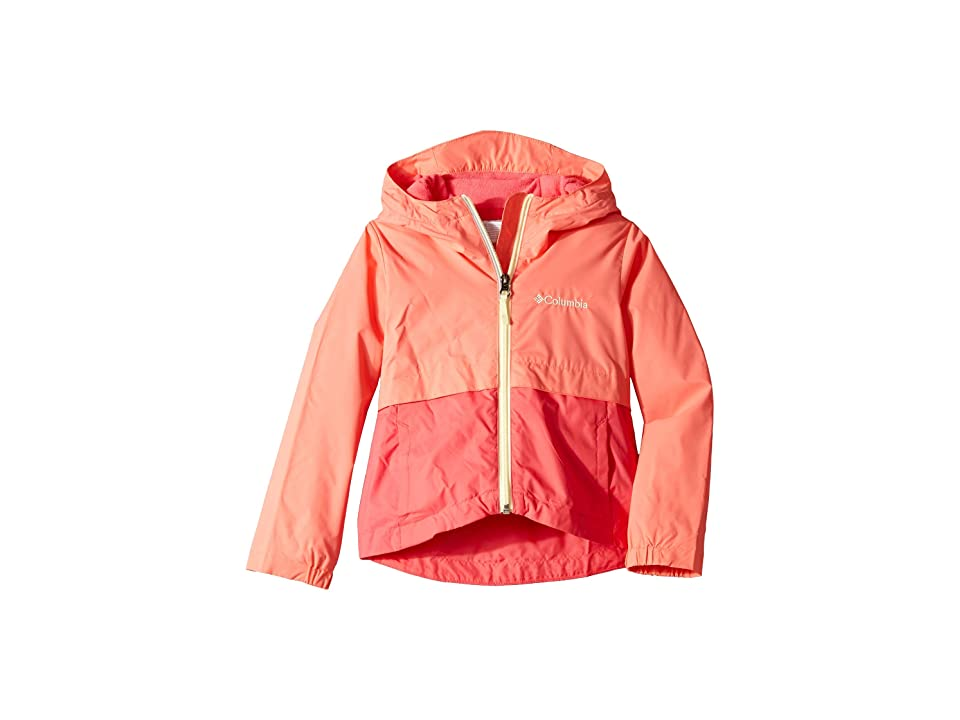 Columbia Kids Rain-Zillatm Jacket (Little Kids/Big Kids) (Hot Coral/Bright Geranium/Lime Freeze) Girl