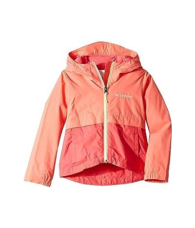 Columbia Kids Rain-Zillatm Jacket (Little Kids/Big Kids) (Hot Coral/Bright Geranium/Lime Freeze) Girl