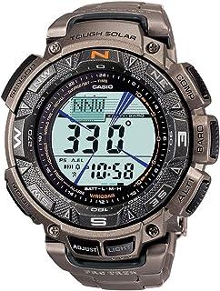Casio PROTREK Triple Sensor Solar Men's Watch PRG-240T-7 PRG-240T-7DR (Titanium Band)
