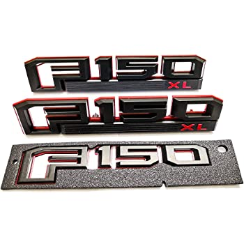 3x F150 XL Fender Emblem F-150 Rear Tailgate Badge 3D Logo Nameplate Replacement for F-150 Chrome Original Size