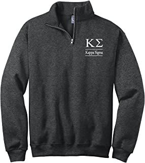 Kappa Sigma Quarter Zip Pullover Sweatshirt