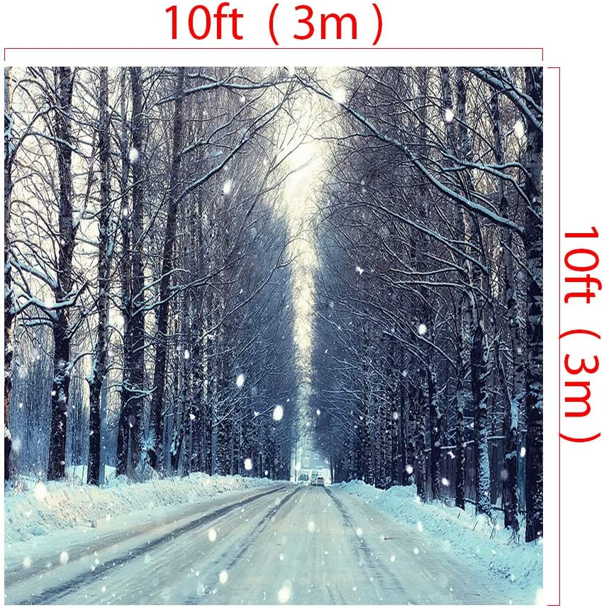 RBQOKJ 7x5ft Winter Snow Backdrop Frozen Forest Landscape Tree Photography Background New Years Eve Holiday Photo Backdrops for Shoot Studio Prop