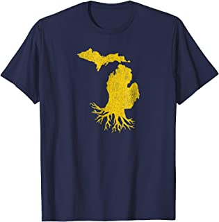 Vintage Home Grown Michigan State Roots Hometown T-Shirt
