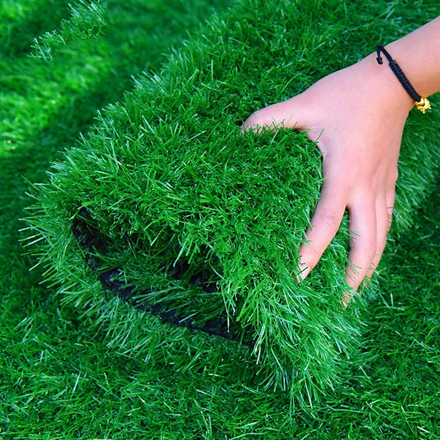 多様体ふさわしい徹底人工芝 20ミリメートル人工模擬芝生、グリーンマットサッカーフィールド人工フェイクターフ屋内プラスチックカーペットバルコニー断熱パッド装飾芝生 庭の芝生 (Size : 2 m X 4 m)