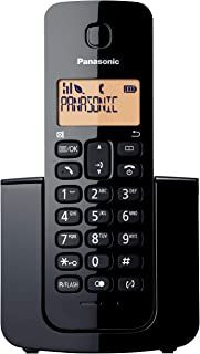 Panasonic Digital Cordless Phone with Single Handset, Black (KX-TGB110ALB)