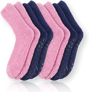 Pembrook Non Skid/Slip Socks – Hospital Socks – Fuzzy Slipper Gripper Socks