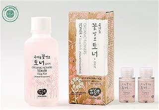 Whamisa Organic Flower Toner for Face & Body | Natural Hydrating Moisturizer for Dry Sensitive Skin | with Natural Fermented Ingredients 4.05 fl.oz. + 1.35 fl.oz. Deep Rich Flower Essence Facial Toner